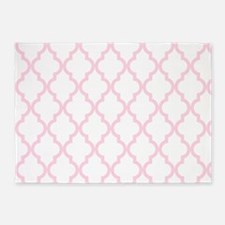 Baby Girl Pink Moroccan Pattern (In 5'x7'Area Rug