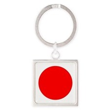 Square Japanese Flag Keychains