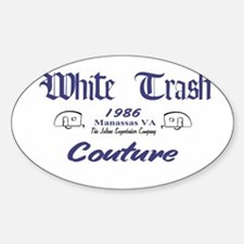 White Trash Couture (brand) Oval Decal