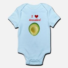 I Love Heart Avocados Guillermo's Fave Body Suit