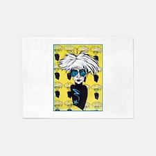 Warhol, pop tribute art 5'x7'Area Rug
