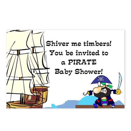 pirate baby shower invite postcards package of 8 by munchkinandmom
