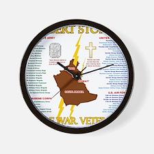 operation desert storm gulf war veteran Wall Clock