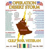 Gulf war Wrapped Canvas Art