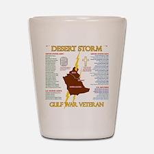 operation desert storm gulf war veteran Shot Glass