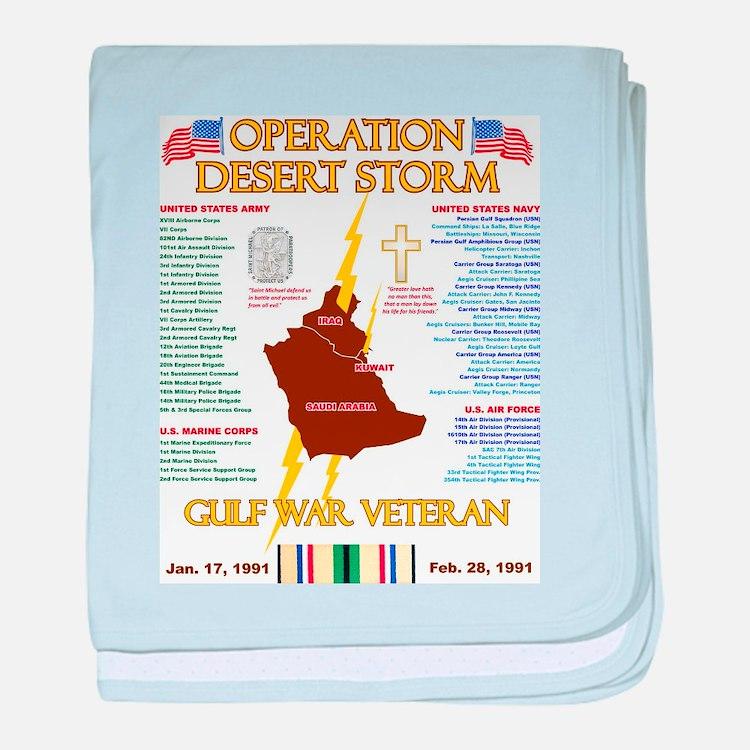 operation desert storm gulf war veter baby blanket
