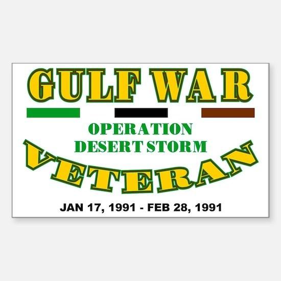 GULF WAR VETERAN OPERATION DES Sticker (Rectangle)