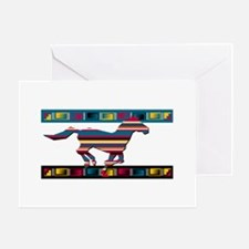 Funny Indian horse Greeting Card