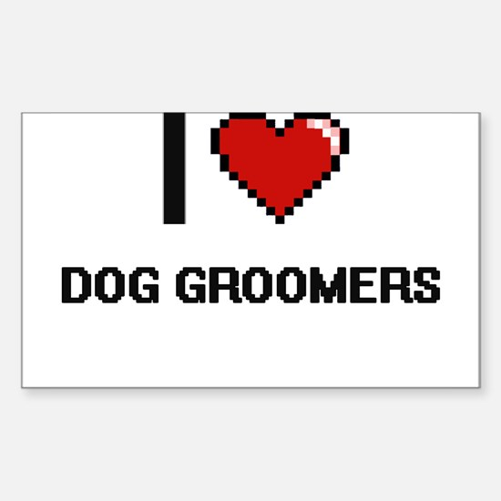 I love Dog Groomers Decal