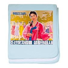 Korean Ladies Wearing Hanbok baby blanket