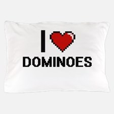 I love Dominoes Pillow Case