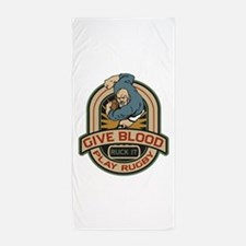 Give Blood Play Rugby Beach Towel