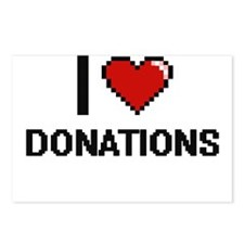 I love Donations Postcards (Package of 8)