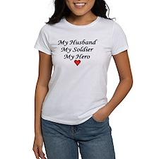 My Husband My Soldier My Hero Army Tee