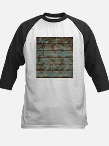rustic western turquoise barn wood Baseball Jersey