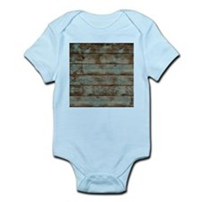 rustic western turquoise barn wood Body Suit