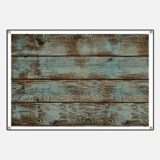 rustic western turquoise barn wood Banner