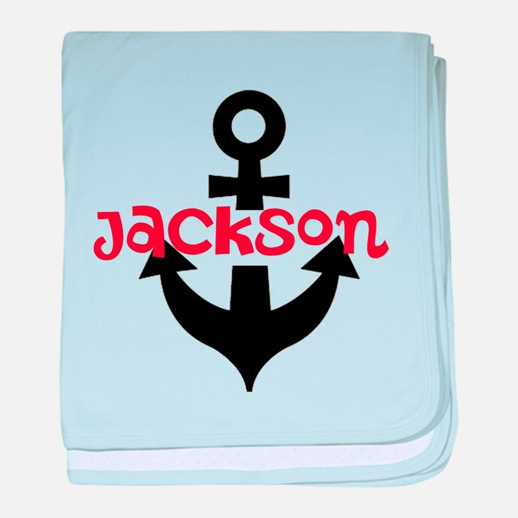Personalized Cruise Anchor baby blanket