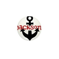 Personalized Cruise Anchor Mini Button