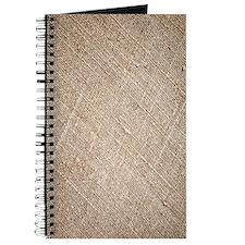 shabby chic vintage burlap Journal