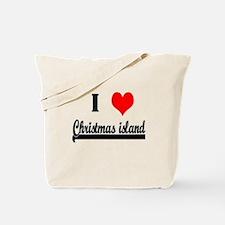 I Love Christmas Island Tote Bag