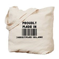 Proudly Made in Christmas Isl Tote Bag