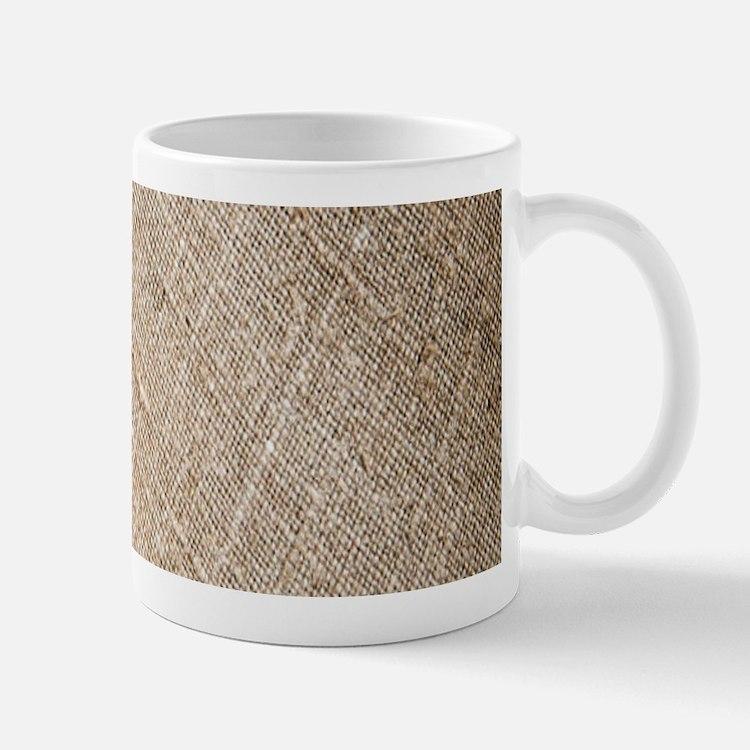 shabby chic vintage burlap Mugs
