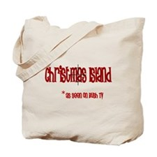 Christmas Island on Bush tv Tote Bag