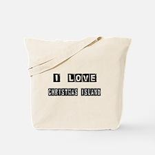 I Block Love Christmas Island Tote Bag