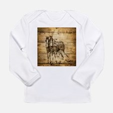 western country farm horse Long Sleeve T-Shirt
