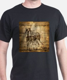 western country farm horse T-Shirt