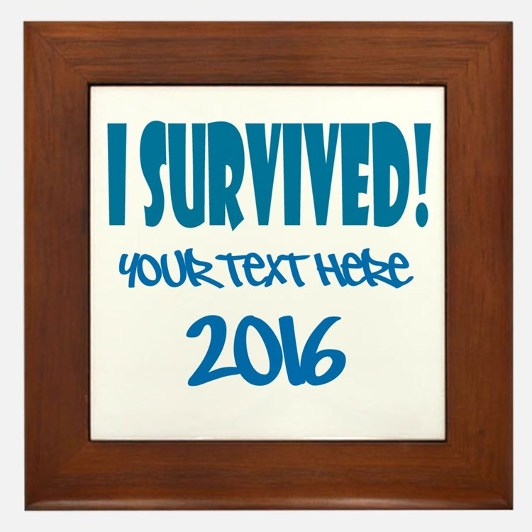 Custom I Survived Framed Tile