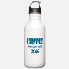 Custom I Survived Water Bottle