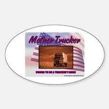 Mother Trucker Oval Decal