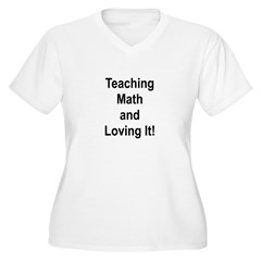 Teaching Math And Loving It! Women's Plus Size V-N