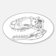Sinraptor Skull Oval Decal