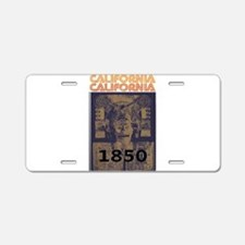 California History Aluminum License Plate