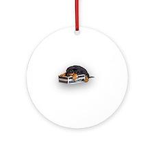 Puppy Suitcase Ornament (Round)