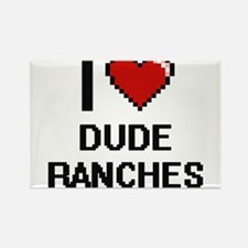I love Dude Ranches Magnets