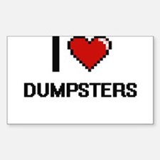I love Dumpsters Decal