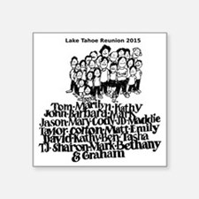 "reunion2015 Square Sticker 3"" x 3"""