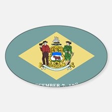 Delaware State Flag Decal
