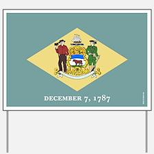Delaware State Flag Yard Sign