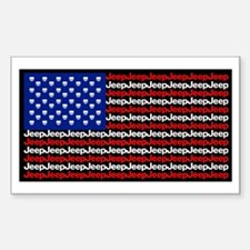 American Jeep Flag Decal
