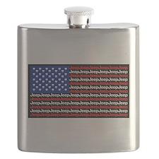 American Jeep Flag Flask
