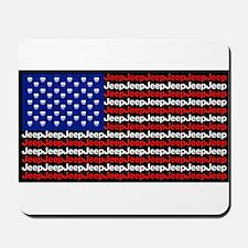 American Jeep Flag Mousepad
