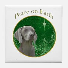 Weimaraner Peace Tile Coaster