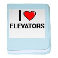 I love ELEVATORS baby blanket