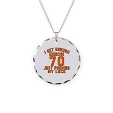 70 Birthday Designs Necklace Circle Charm