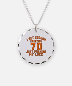 70 Birthday Designs Necklace Circle Charm